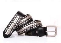 Genuine Leather Vintage Punk Mens Belt Cowhide Retro Rivet Belts For Men Women 2013 Designer Casual Dresses Freeshipping TBT0050