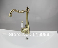 Antique Brass Kitchen Sink Bathroom Basin Sink Mixer Tap Brass Faucet  LS 0012