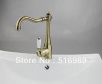 Antique Brass Kitchen Sink Bathroom Basin Sink Mixer Tap Brass Faucet  LS 0012