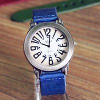 WAT106 Top quality Unisex Genuine Cow leather watch fashion Punk Wrap Men's watches.Free shipping