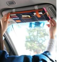 car bag 3 colors 100pcs/lot multi-purpose Sunvisor point pocket auto car hanging storage bag canvas wholesale Free shipping