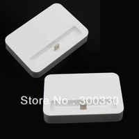White  Dock Cradle Sync Charger Station For iPhone 5 5G  100pcs/lot Free shipping