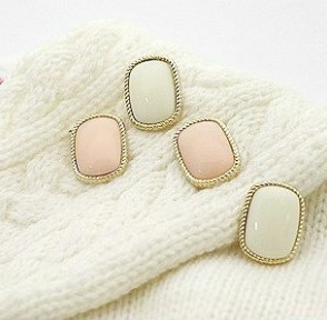 Min.order is $8 (mix order) & Arriral Simple The Trim Розовый Rectangle Earrings ...