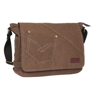 100% cotton canvas bag casual shoulder bag messenger bag student school bag for male free shipping