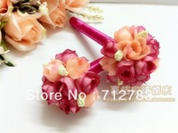 Free Shipping For Min Order $15 2013 Wholesale Rose Flower Signature Pen For Wedding And Party