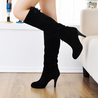 New 2014 Winter Knee High Boots For Women/Brand High Heel Women Boots/Plus Size  Designer Women Shoes