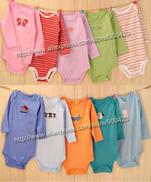 260pcs designs boy&girl's long sleeve  Baby Rompers,100%cotton romper,6M 9M 12M  18M 24M, 2pcs/lot