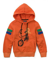 Wholesale 5 pcs Spring Autumn gray blue orange Children child boy baby Kids hoody hooded sweater coat outwear top PEQZ09P33