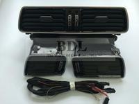 OEM Volkswagen LHD VW Passat B6 B7 B7L CC R36 Chrome Air Vent LED Red Light 3pcs/set 3AD 819 701 A+3AD 819 702 A+3AD 819 728 A