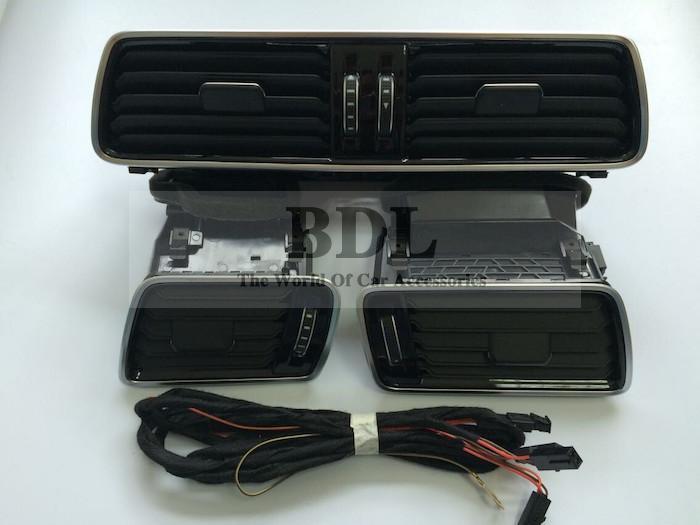 OEM Volkswagen LHD VW Passat B6 B7 B7L CC R36 Chrome Air Vent LED Red Light 3pcs/set 3AD 819 701 A+3AD 819 702 A+3AD 819 728 A(China (Mainland))
