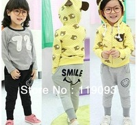 5pcs boys girls smile pants smiling mouse pant children trousers childrens gray black bottoms free shipping