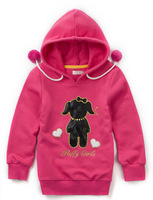 Wholesale 5 pcs Spring Autumn red pink white blue Children child girl Kid baby hoody hooded cotton sweater outwear top PEQZ09P10