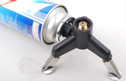 2013 Camping Stove Gear Adaptor Nozzle Gas Bottle Screwgate Three-Leg Transfer Head Free shiping(China (Mainland))