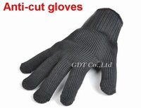 Free Shipping (50 pairs/lot) Black Anti Slash/Cut/Static Glove Work Safe Protect Hands