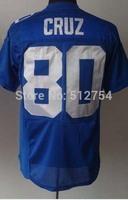 #80 Victor Cruz Jersey,Elite Football Jersey,Best quality,Authentic Jersey,Size M L XL XXL XXXL,Accept Mix Order