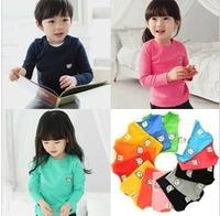 Multi Colors wholesale 100% Cotton Kids clothes t shirts baby clothes long sleeve Children wear clothes costume fit 1-7age
