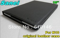 Freeshipping Newest Original 10 inch Sanei N10  3G leather case,Sanei N10 3G case,Sanei N10 3G Cover,Sanei N10 3G leater cover
