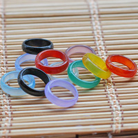 Free shipping Wholesale 100pcs/lot agate rings on finger Candy colors Mixed sizes High quality Healthy fashion jewelry Men&women
