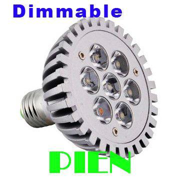 7W E27 LED Light Par30 Dimmable Spotlight Par 30 dimming Bulbs High Power Cool|Warm White 200V-240V DHL Free shipping 8pcs/lot(China (Mainland))