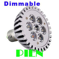 7W E27 LED Light Par30 Dimmable Spotlight Par 30 dimming Bulbs High Power Cool|Warm White 200V-240V DHL Free shipping 8pcs/lot