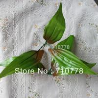 ronde flower leaf Artificial simulation silk  lily flower  leaves handmade diy wedding accessory