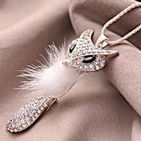 necklaces 2014 women 2014075 accessories kitten fox vintage fashion multi-layer necklace rhinestone
