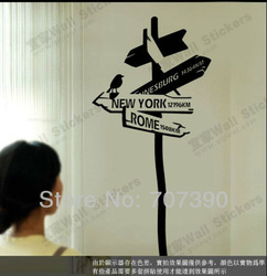 NEW! 48*155cm New York Point Wall decor decals home stickers art Vinyl Applique Murals KF342(China (Mainland))
