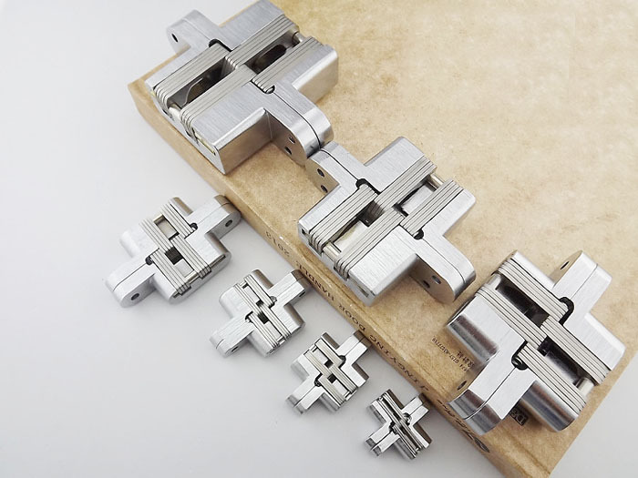 Stealth Stainless Steel Door Hinge New Stock With Screws Concealed Invisible(China (Mainland))