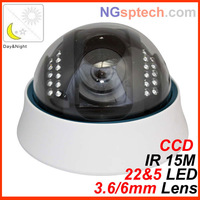 22 leds Night Vision IR 15 m  700tvl OSD cctv dome Sony CCD security camera free shipping