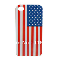 10PCS Free shipping US Flag Hard Protection Back Case for Phone 4 /4S
