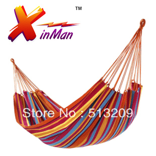 Summer 200cm*100cm Camping bed tourism hunting Leisure hammock double outdoor swing canvas String hammock for the sleep