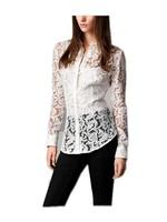 Vintage Style Ladies Lace Top Shirt+vest/ Long Sleeve Women's Blouse+vest/ Office Ladies' Wear/ Affordable Couture