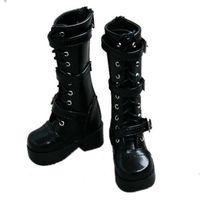 [wamami] 16# Black 1/4 MSD DOD BJD Dollfie Leather Boots/Shoes