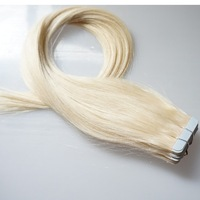 "Free Shipping 16""18""20""22""24"" Remy Hair Tape Human Hair Extension #60 white blonde Wholesale price"