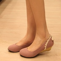 2014 New Sexy Faux Suede Women Pumps/Brand  Low Heels Pumps For Women/Plus Size Spring Women Shoes