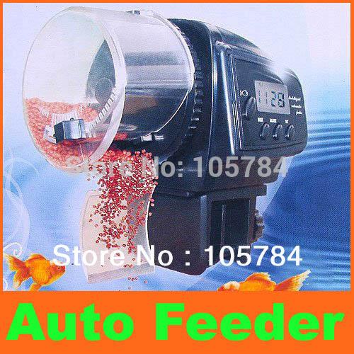 Digital Automatic Aquarium Fish Auto Feeder with Aquarium Fish Food Feeder Timer auto pet feeder Freeshipping(China (Mainland))