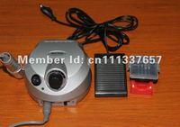 Free shipping Silver / pink  35000 rpm Electric nail files machine Nail drill machine European plug 220v-250v