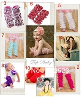 Wholesale - 20 Pairs Lot Baby Girls Lace Petti Ruffles Leg Arm Warmers for Rompers Tutu Free Size Legging Socks