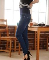 Promotion fashion comfortable autumn elastic adjustable waist abdomen denim pregnant/maternity women's jeans/trousers YC-014