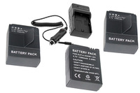 new 3X AHDBT-201 BATTERY and charger FOR GOPRO HERO 3 AHDBT-301 1599MAH 5.9WH