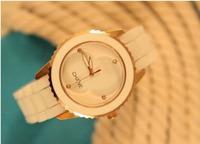 1PC Brand Quartz Watch Silicone Band Wrist Watch for Girls Ladies Free Shipping women watches