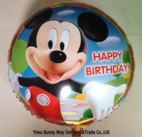 New arrive !!! 50pcs/lots  wholesales 18inch Happy birthday balloons ,Mickey and Minnie foil balloon , Party decorate