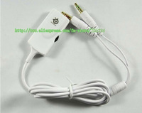 Free Shipping V2 headphone Extension cable with Volume Control 3.5mm connectors Neckband headset cable