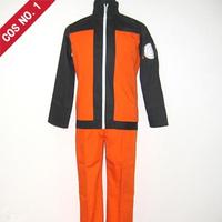 Cosplay anime costume Naruto Uzumaki jacket shippuden Ninja Clothes Halloween Fashion Show fee shipping