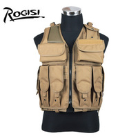 Rogisi 10Z04 Men Military Tactical Vest Army (Tatico Colete) Outdoor  Camping Vest Color:Black/Brown/ACU Camou/Jungle  Camou