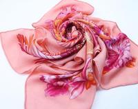 2014 Designer Silk Australian Wool Scarf Brand Mulberry Silk Pashmina Scarves Leopard Print Square Wrap 110x110cm 5Color SF0132