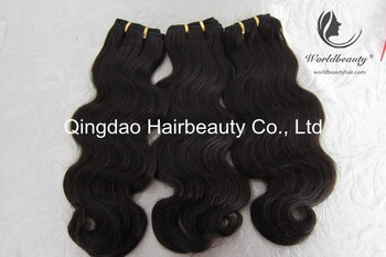 free shipping!natural color body wave hair weaving same size 3pieces per lot natural brazilian hair extension hair wefts