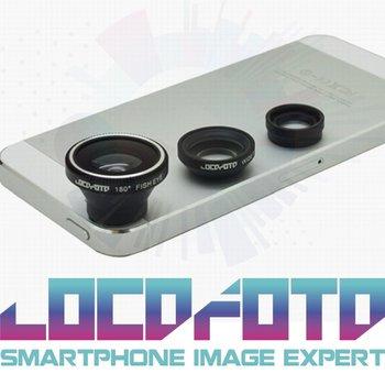 3in1 Small Macro + Wide Angle + Fisheye Camera digital Detachable Lens kit For iPhone 4G/S 5G Samsung Galaxy S3 Free Shipment