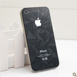 screen protectors for iphone 4/4s  3D diamond front /back  stickers