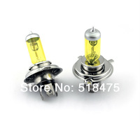 Free Shipping  hottest  New free shipping H4 12V 55W Halogen bulb 2 Pcs yellow tube